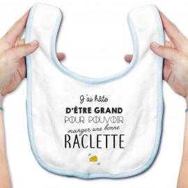 Bavoir bébé Une bonne raclette