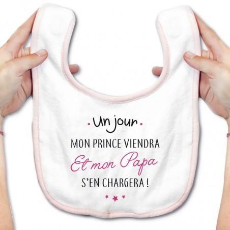 Bavoir bébé Un jour mon prince viendra