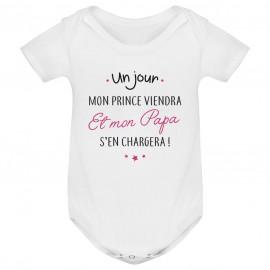 Body bébé Un jour mon prince viendra