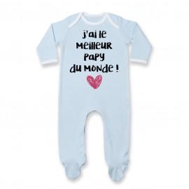 Pyjama bébé J'ai le meilleur Papy du monde