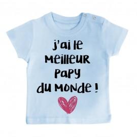 T-Shirt bébé J'ai le meilleur Papy du monde