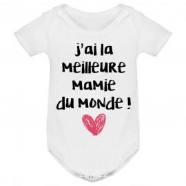 Body bébé J'ai la meilleure Mamie du monde
