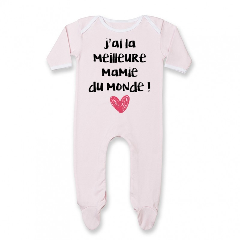 Pyjama bébé J'ai la meilleure Mamie du monde
