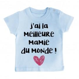 T-Shirt bébé J'ai la meilleure Mamie du monde