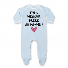 Pyjama bébé J'ai le meilleur Frère du monde
