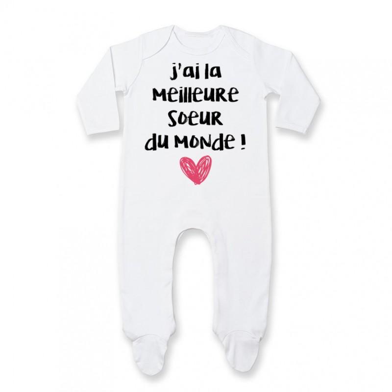 Pyjama bébé J'ai la meilleure Soeur du monde