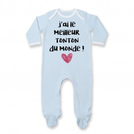 Pyjama bébé J'ai le meilleur Tonton du monde