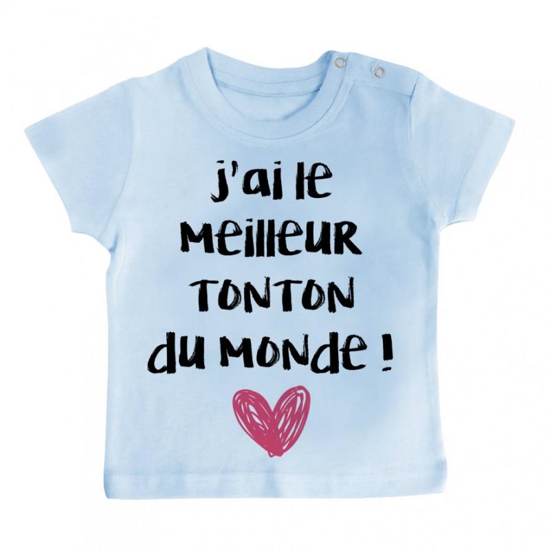 T-Shirt bébé J'ai le meilleur Tonton du monde