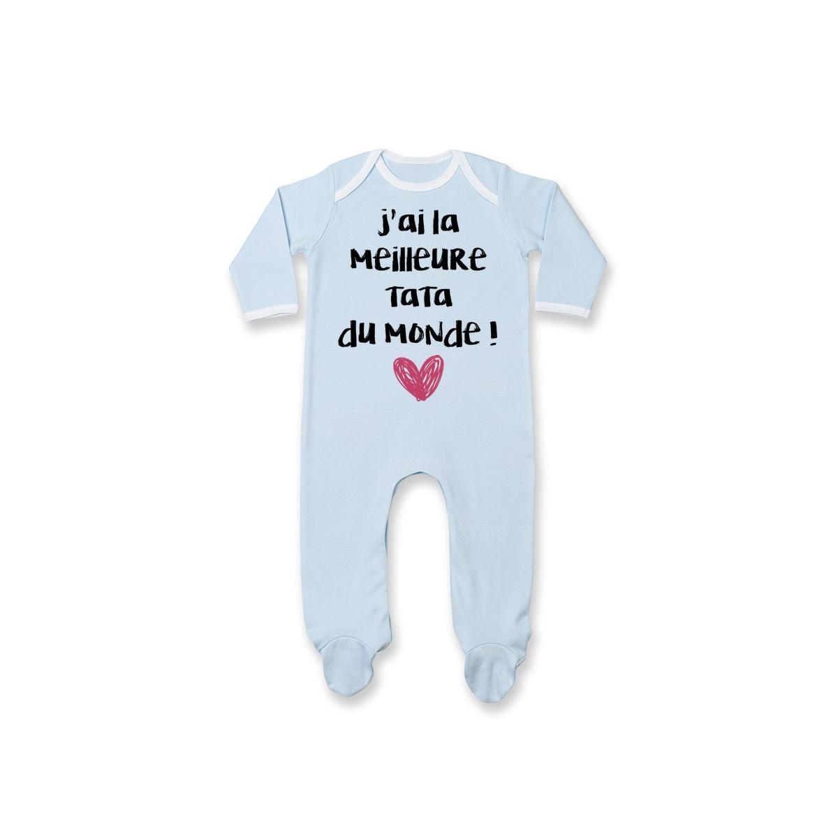 Pyjama bébé J'ai la meilleure Tata du monde