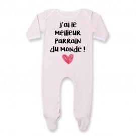 Pyjama bébé J'ai le meilleur Parrain du monde