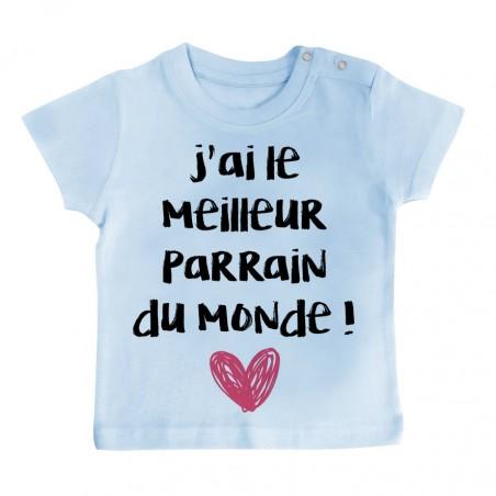 T-Shirt bébé J'ai le meilleur Parrain du monde