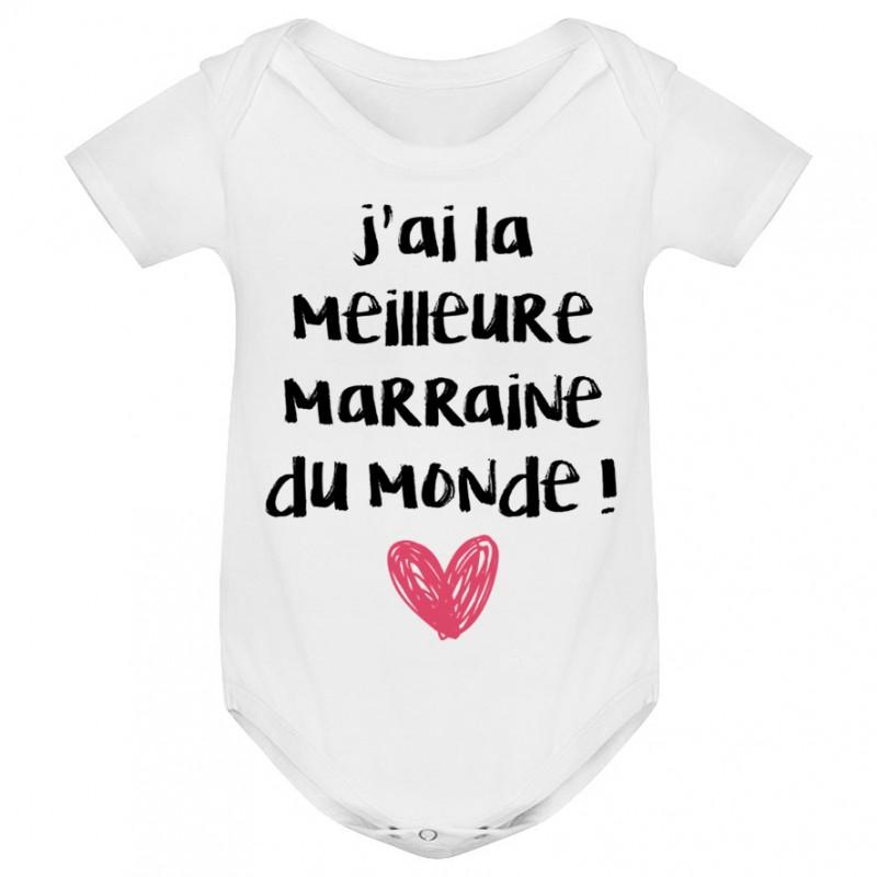 Body bébé J'ai la meilleure Marraine du monde