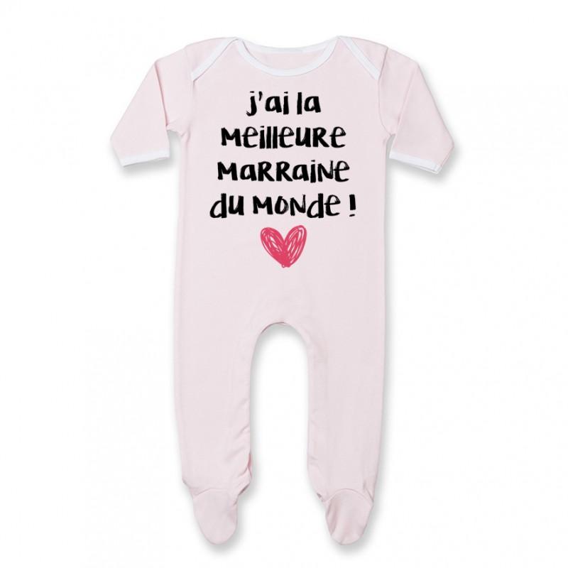 Pyjama bébé J'ai la meilleure Marraine du monde