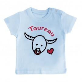 T-Shirt bébé Signes Astrologiques : Taureau