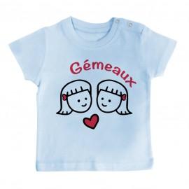T-Shirt bébé Signes Astrologiques : Gémeaux