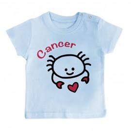 T-Shirt bébé Signes Astrologiques : Cancer