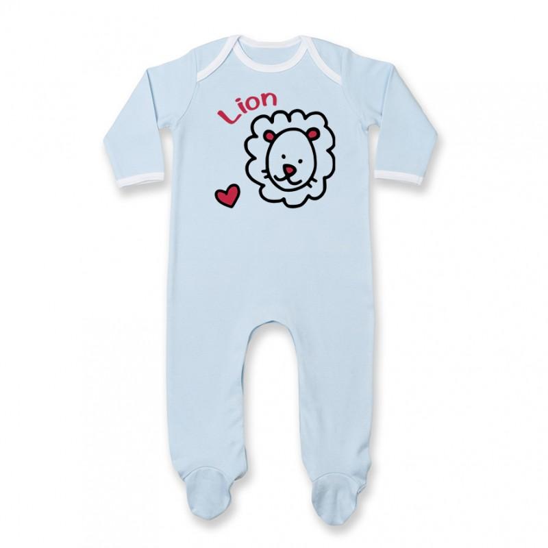 Pyjama bébé Signes Astrologiques : Lion