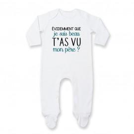Pyjama bébé Evidemment que je suis beau