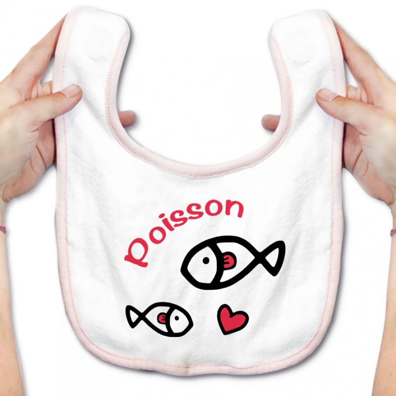 Bavoir bébé Signes Astrologiques : Poisson