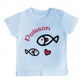 T-Shirt bébé Signes Astrologiques : Poisson