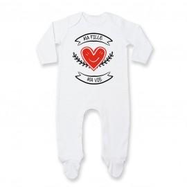 Pyjama bébé Ma fille, ma vie