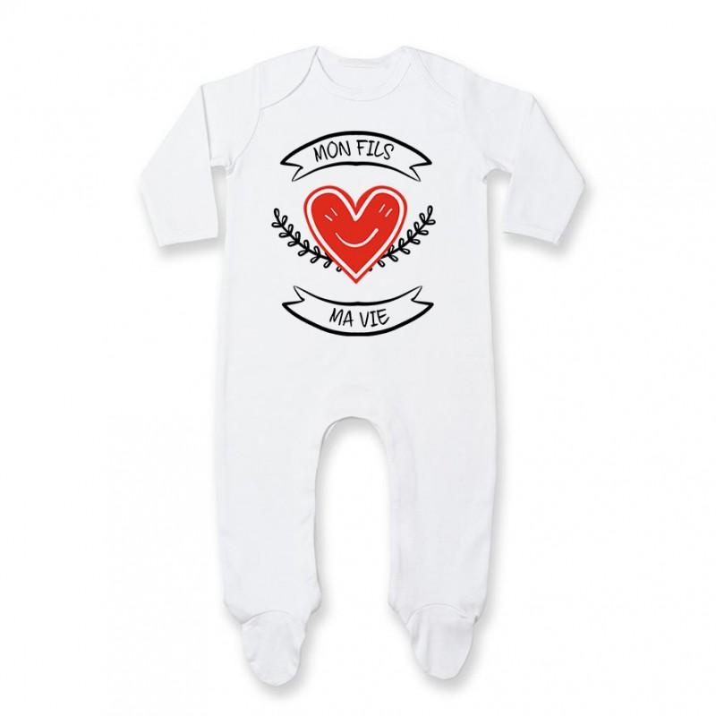 Pyjama bébé Mon fils, ma vie