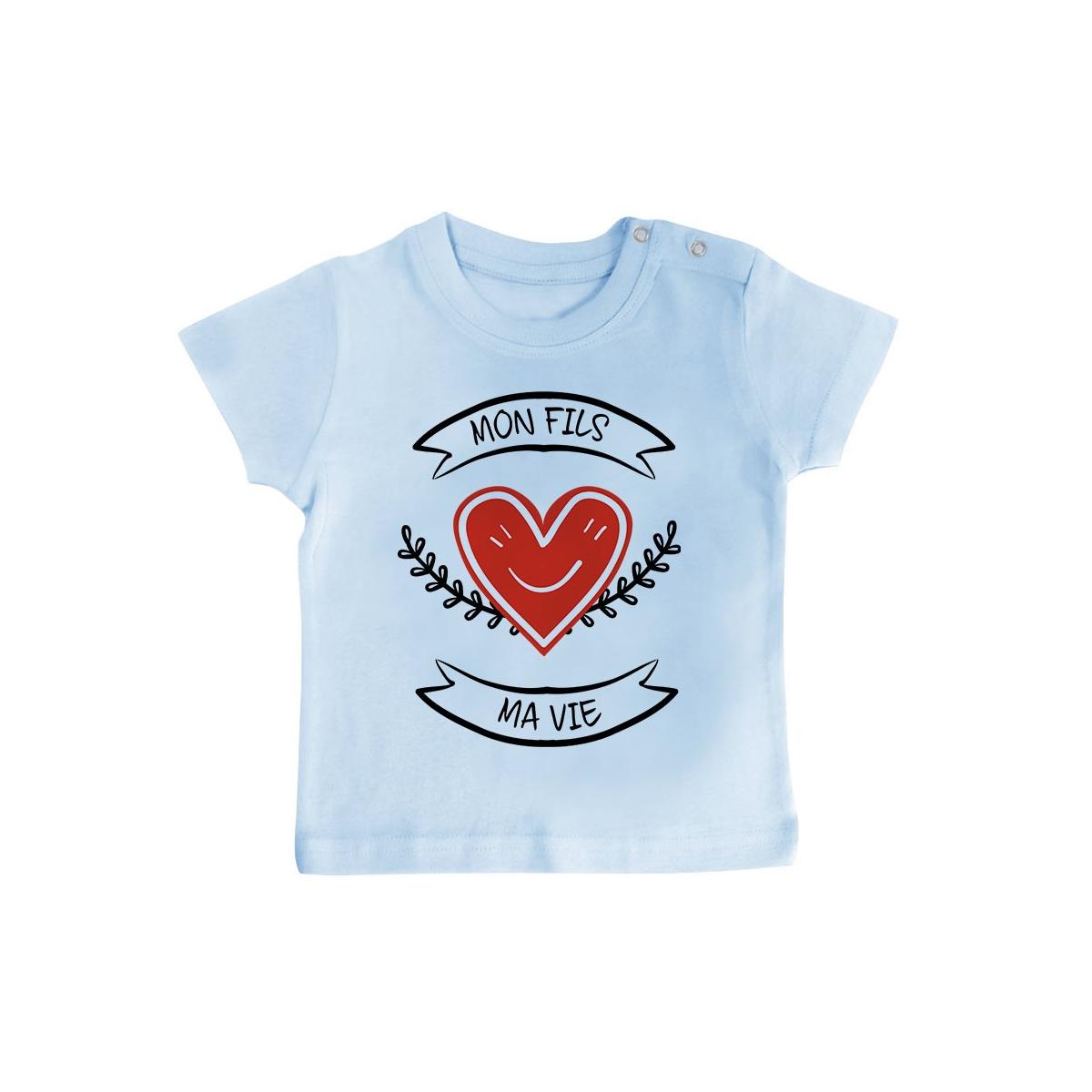 T-Shirt bébé Mon fils, ma vie