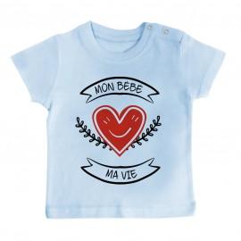 T-Shirt bébé Mon bébé, ma vie