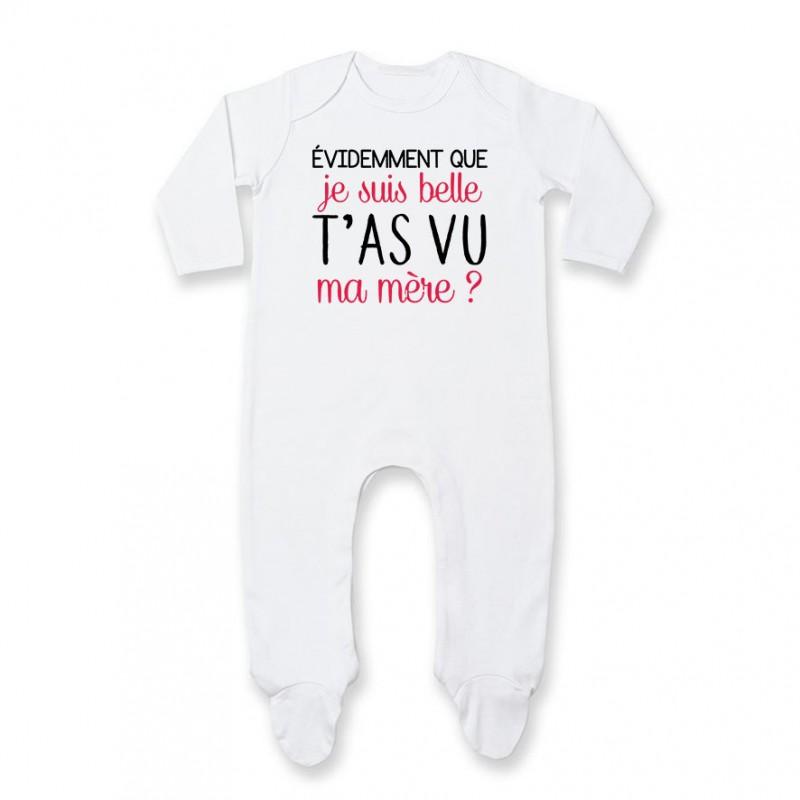 Pyjama bébé Evidemment que je suis belle