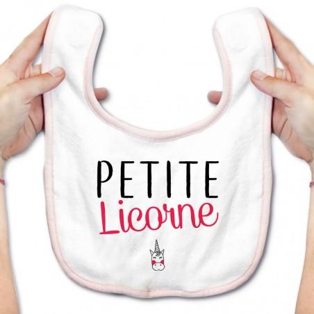 Bavoir bébé Petite licorne