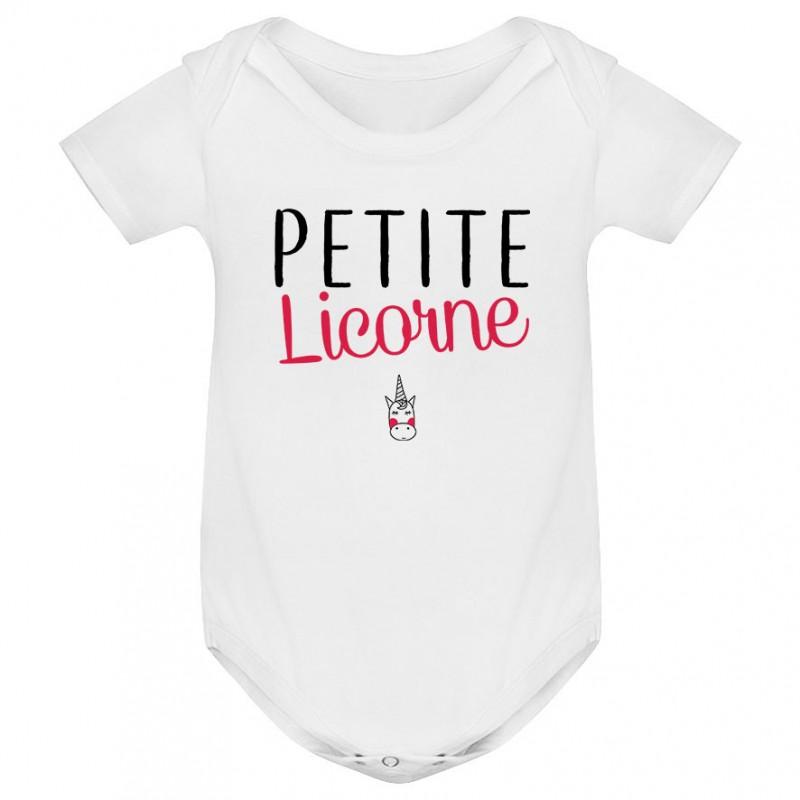 Body bébé Petite licorne