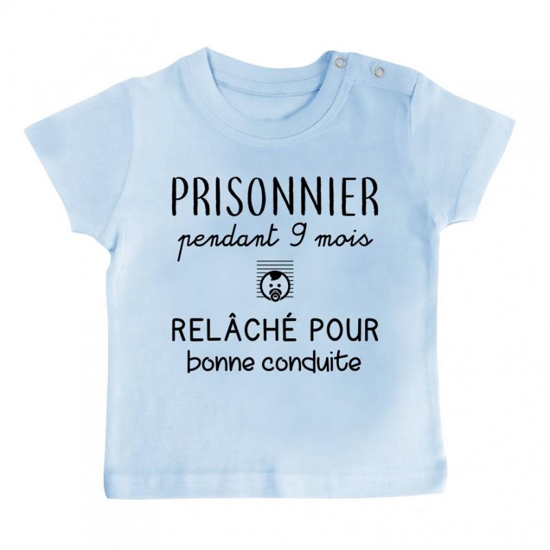 T-Shirt bébé Prisonnier pendant 9 mois