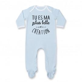 Pyjama bébé Tu es ma plus belle création