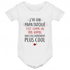 Body bébé J'ai un papa tatoué