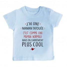T-Shirt bébé J'ai une maman tatouée