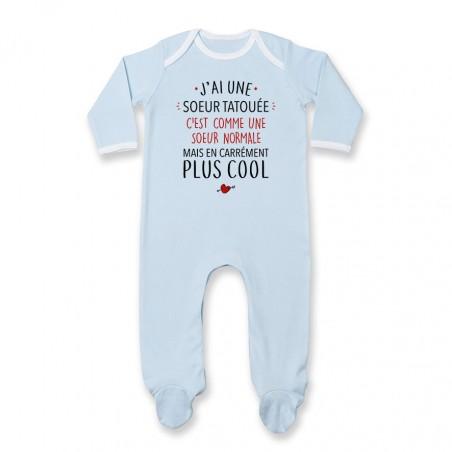 Pyjama bébé J'ai une soeur tatouée