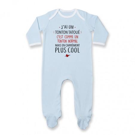 Pyjama bébé J'ai un tonton tatoué