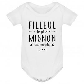 Body bébé Filleul le plus mignon du monde