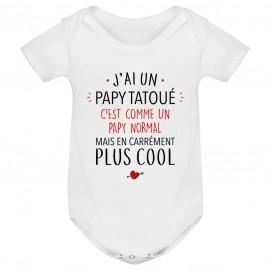 Body bébé J'ai un papy tatoué