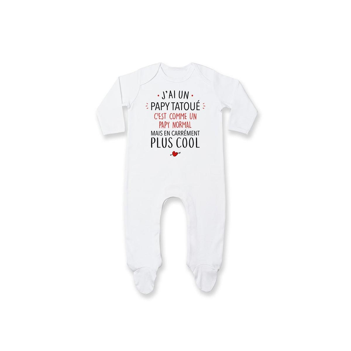 Pyjama bébé J'ai un papy tatoué