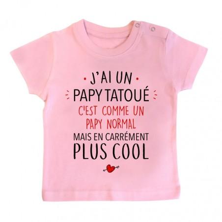 T-Shirt bébé J'ai un papy tatoué