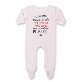 Pyjama bébé J'ai une mamie tatouée