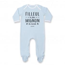 Pyjama bébé Filleul le plus mignon du monde