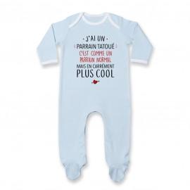 Pyjama bébé J'ai un parrain tatoué