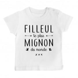 T-Shirt bébé Filleul le plus mignon du monde