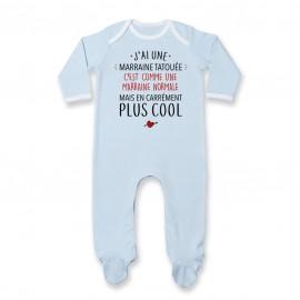 Pyjama bébé J'ai une marraine tatouée