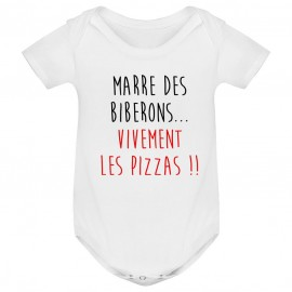 Body bébé Vivement les pizzas