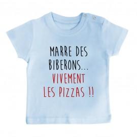 T-Shirt bébé Vivement les pizzas