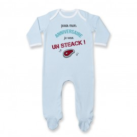Pyjama bébé Je veux un STEACK