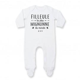 Pyjama bébé Filleule la plus mignonne du monde